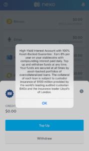 Nexo Stablecoin Interest Notice
