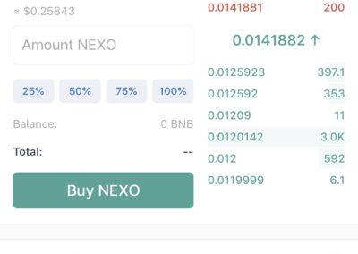 Trust Wallet NEXO Exchange